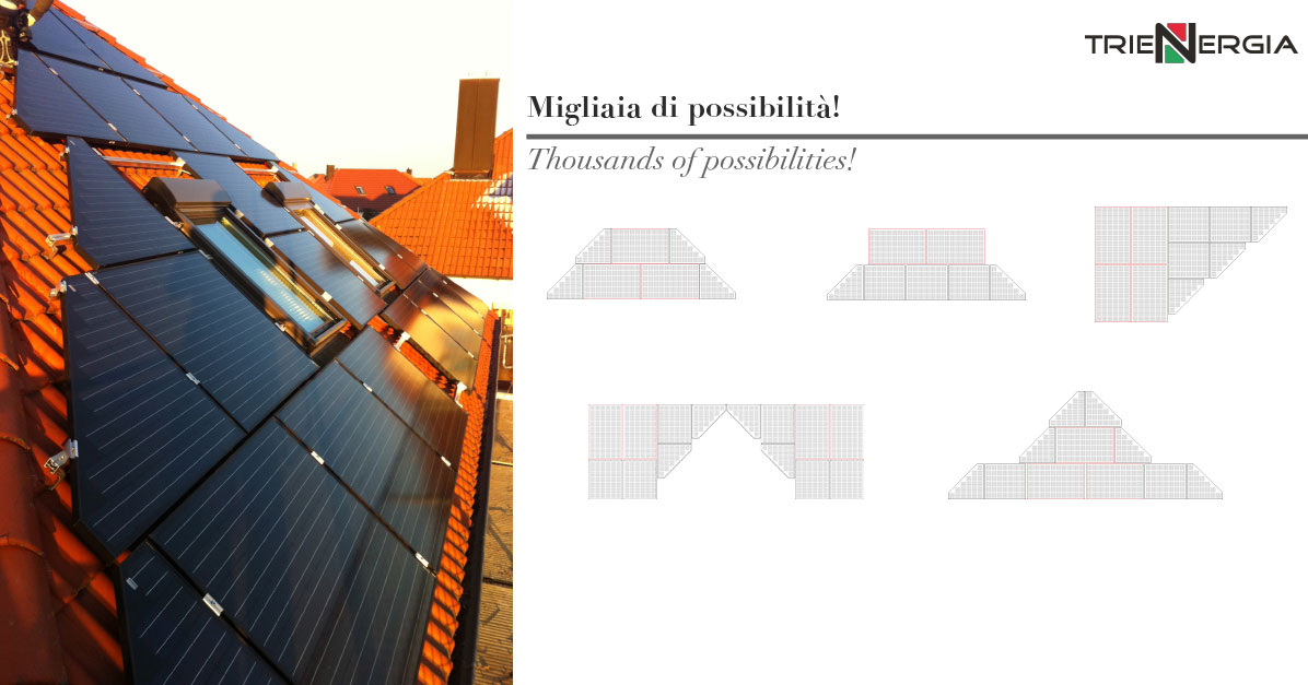 impianto fotovoltaico innovativo di design Trienergia System
